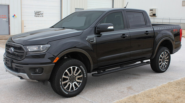 front angle of 2019 Ford Ranger Stripes UPROAR SIDE KIT Graphics 2019-2020