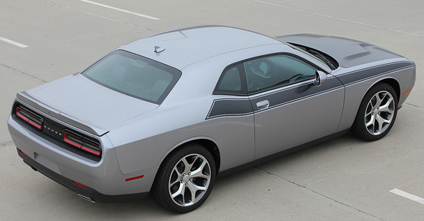 rear angle of Dodge Challenger TA Side Graphics PURSUIT 2011-2017 2018 2019