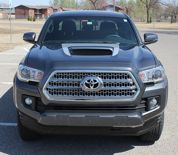 front of Toyota Tacoma Hood Decals SPORT HOOD 2015-2017 2018 2019