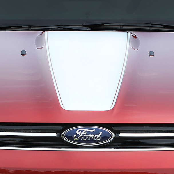 close up of Ford Escape Center Hood Decals CAPTURE HOOD 2013-2017 2018