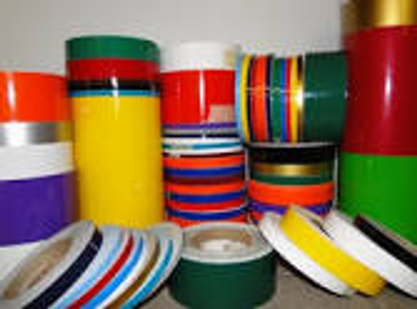 """1/4""""One Quarter  Inch Wide SOLID Auto Pin Stripe Vinyl Tape Roll 150' Long"""