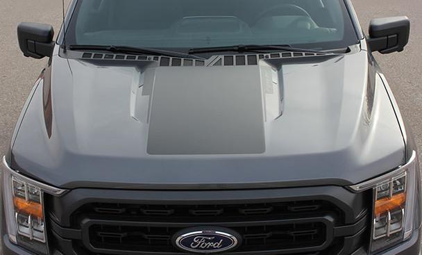 2021 Ford F150 Truck Hood Stripes SWAY HOOD 2021+ Ray's Auto Trim