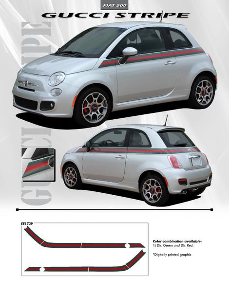 GUCCI | Fiat 500 Graphic Stickers Decals 2012-2020 Digital Print
