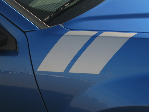 close up of Dodge Avenger Fender Decals AVENGED DOUBLE BAR 3M 2008-2014