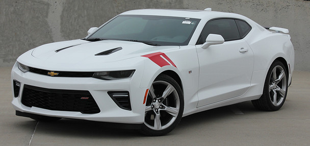 front angle of 2016 Chevy Camaro Fender Decals HASH MARKS 2016 2017 2018