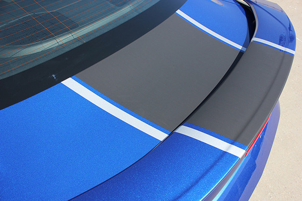 close up trunk of 2016 Chevy Camaro Center Stripes 3M HERITAGE 2016 2017 2018