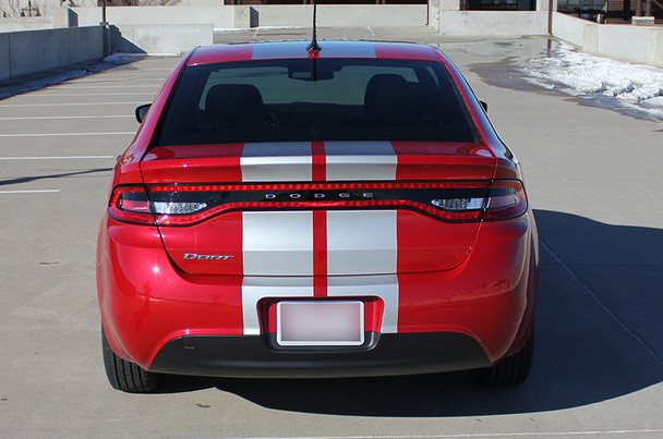 rear of red Dodge Dart Rally Stripes DART RALLY 3M 2013 2014 2015 2016