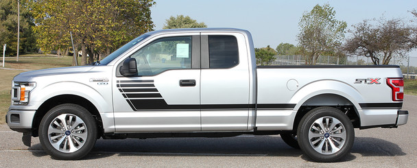 side of silver Vinyl Graphics for Ford F150 SPEEDWAY 2015 2016 2017 2018 2019 2020