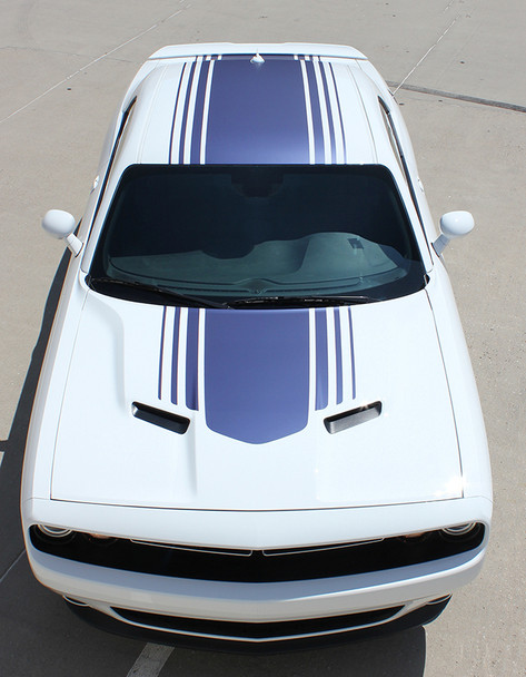 top view of Dodge Challenger Shaker Hood Graphics SHAKER 2015-2018 2019