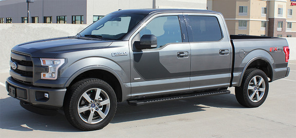 profile of grey Ford F150 Special Edition Side Decals SIDELINE 2015-2018 2019