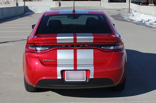 rear of red 2016 Dodge Dart Stripes DART RALLY 2013 2014 2015 2016