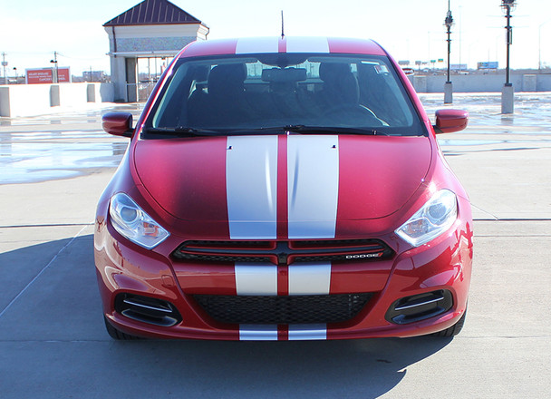 front of red 2016 Dodge Dart Stripes DART RALLY 2013 2014 2015 2016