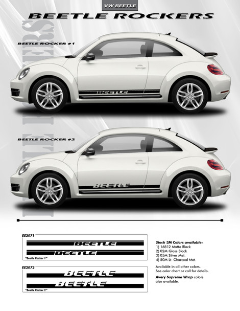 flyer for VW Beetle Rocker Panel Decals ROCKER 1 or 2 2012-2018 2019