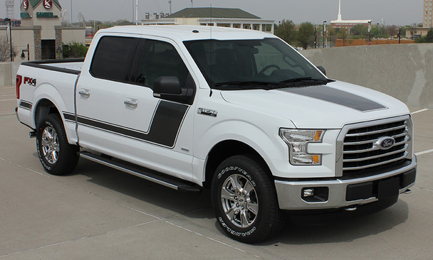 front angle of 2017 Ford F150 Side Graphics FORCE 2 3M 2009-2017 2018 2019