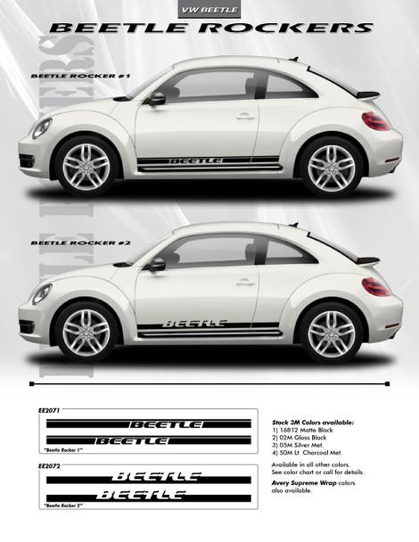 flyer for VW Beetle Side Door Stripes ROCKER 1 or 2 2012-2017 2018 2019