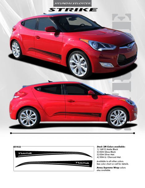 flyer for Hyundai Veloster Racing Stripes STRIKE 2011-2016 2017 2018
