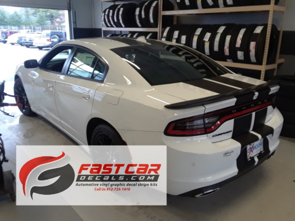 rear angle of 2017 Dodge Charger Rally Stripes N CHARGE 15 2015-2018 2019