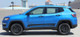 profile of blue Jeep Compass Rocker Decal Stripes COURSE ROCKER Decals 2017 2018 2019 2020