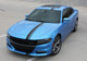 front of blue 2017 Dodge Charger Euro Decals E RALLY 15 2015-2017 2018 2019