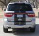 rear of silver Dodge Durango SRT Racing Stripes DURANGO RALLY 2014-2019