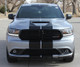 front of silver Dodge Durango SRT Rally Stripes DURANGO RALLY 2014-2018 2019 2020