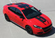 side of red Dodge Dart Racing Stripes SPRINT RALLY 3M 2013 2014 2015 2016