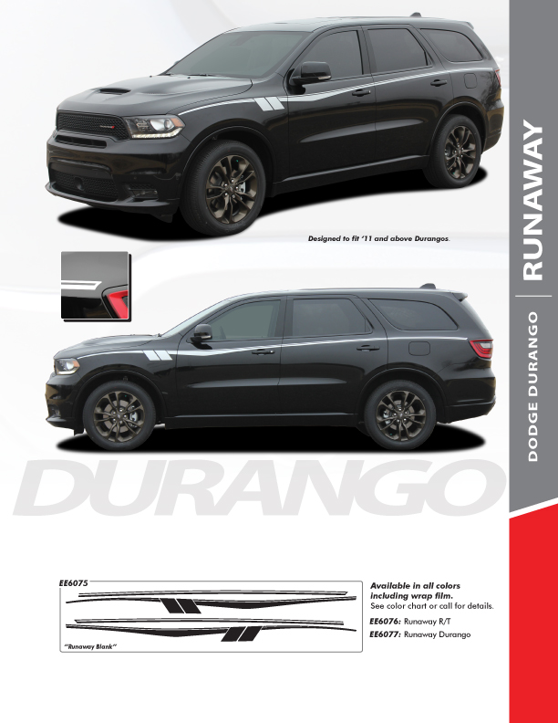 2020 Dodge Durango Side Stripes Packages RUNAWAY 2011-2021
