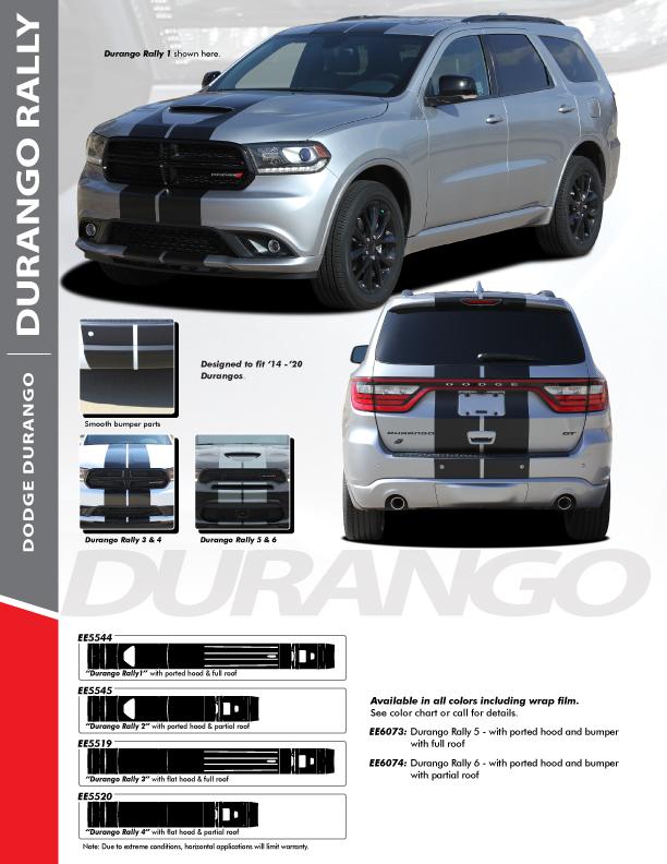 2021 Dodge Durango RT Stripes DURANGO RALLY 2014-2021