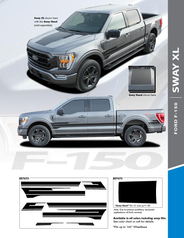 2021 Ford F150 Truck Side Stripes SWAY XL SIDE KIT 2021+