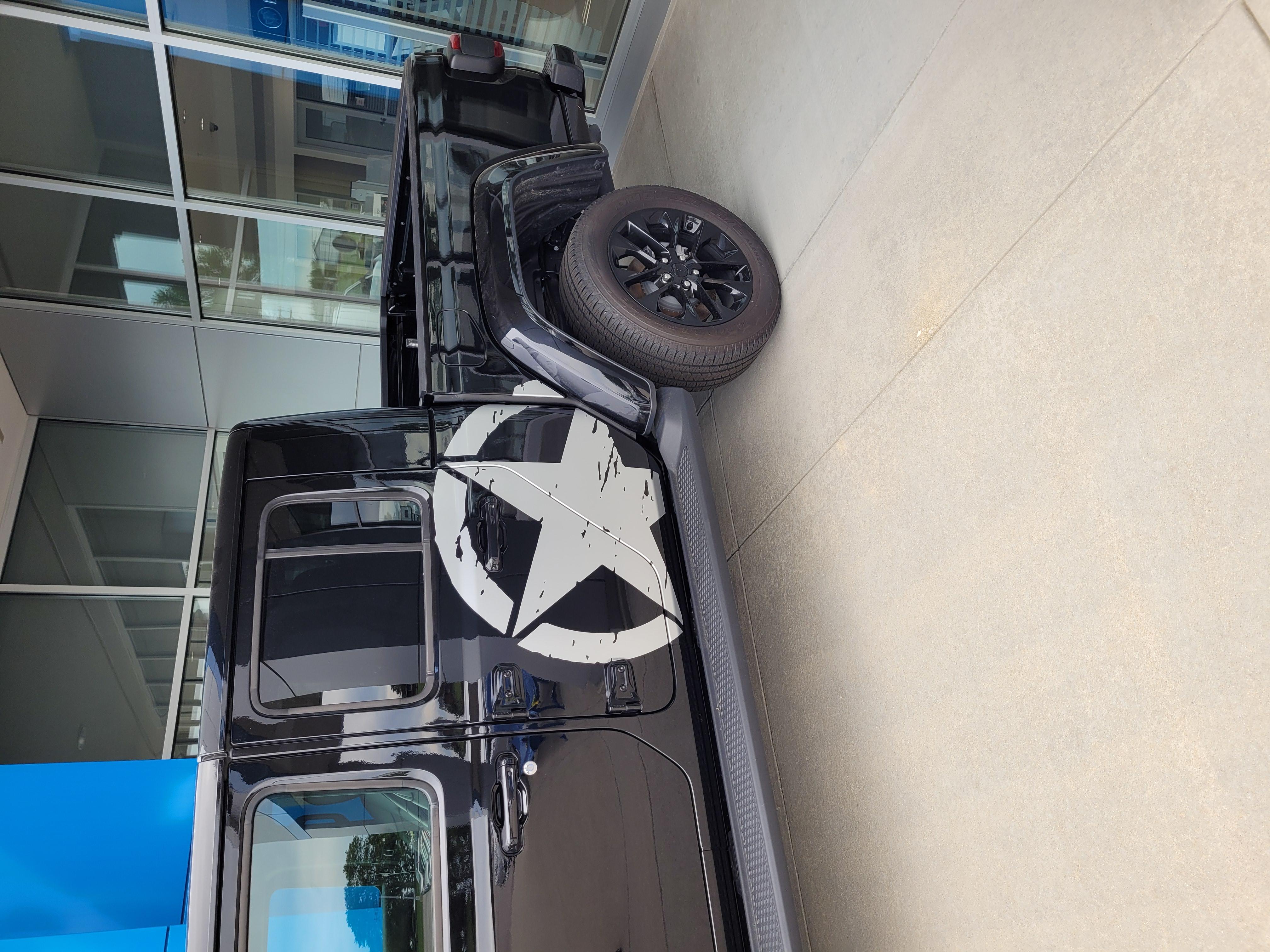 2020-2021 Jeep Gladiator Side Decals Package LEGEND SIDE KIT