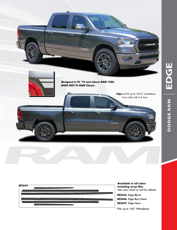 2019 Dodge Ram 1500 Graphics RAM EDGE SIDE KIT 2019 2020 2021