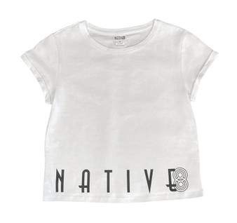 Ashley Crop Tee White