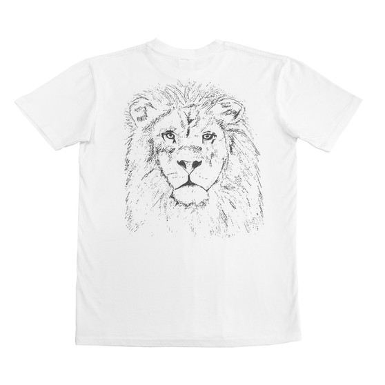 Lion Tee White - Back