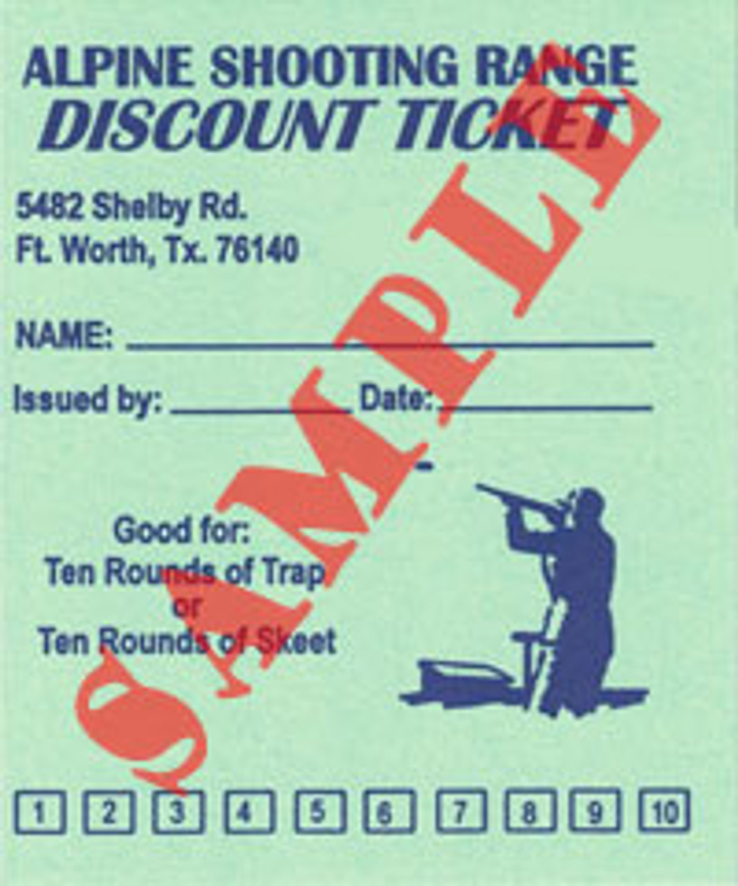 Discount Card for 10 rounds of Skeet or Trap