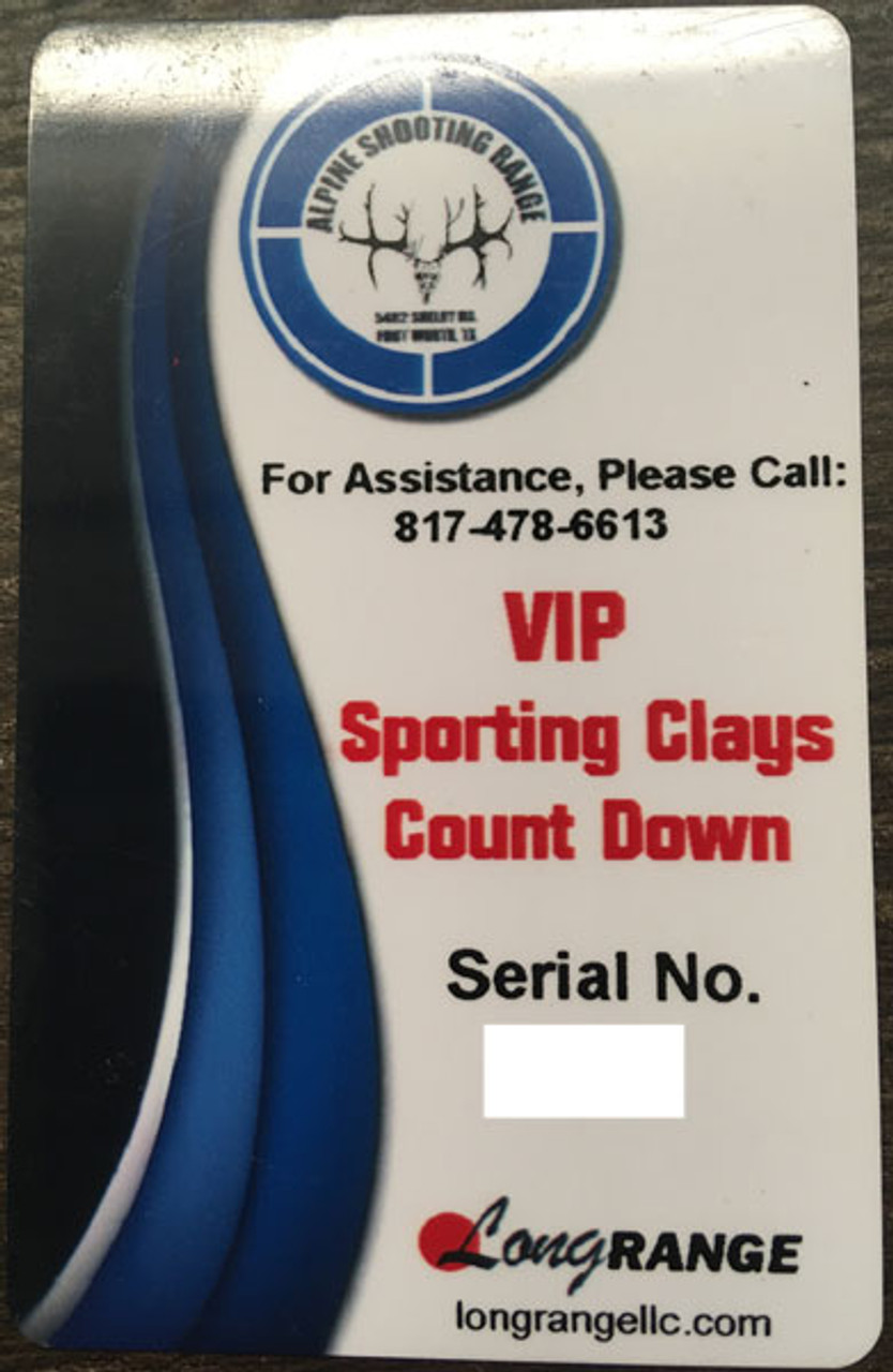 Sporting Sporting Clays VIP card