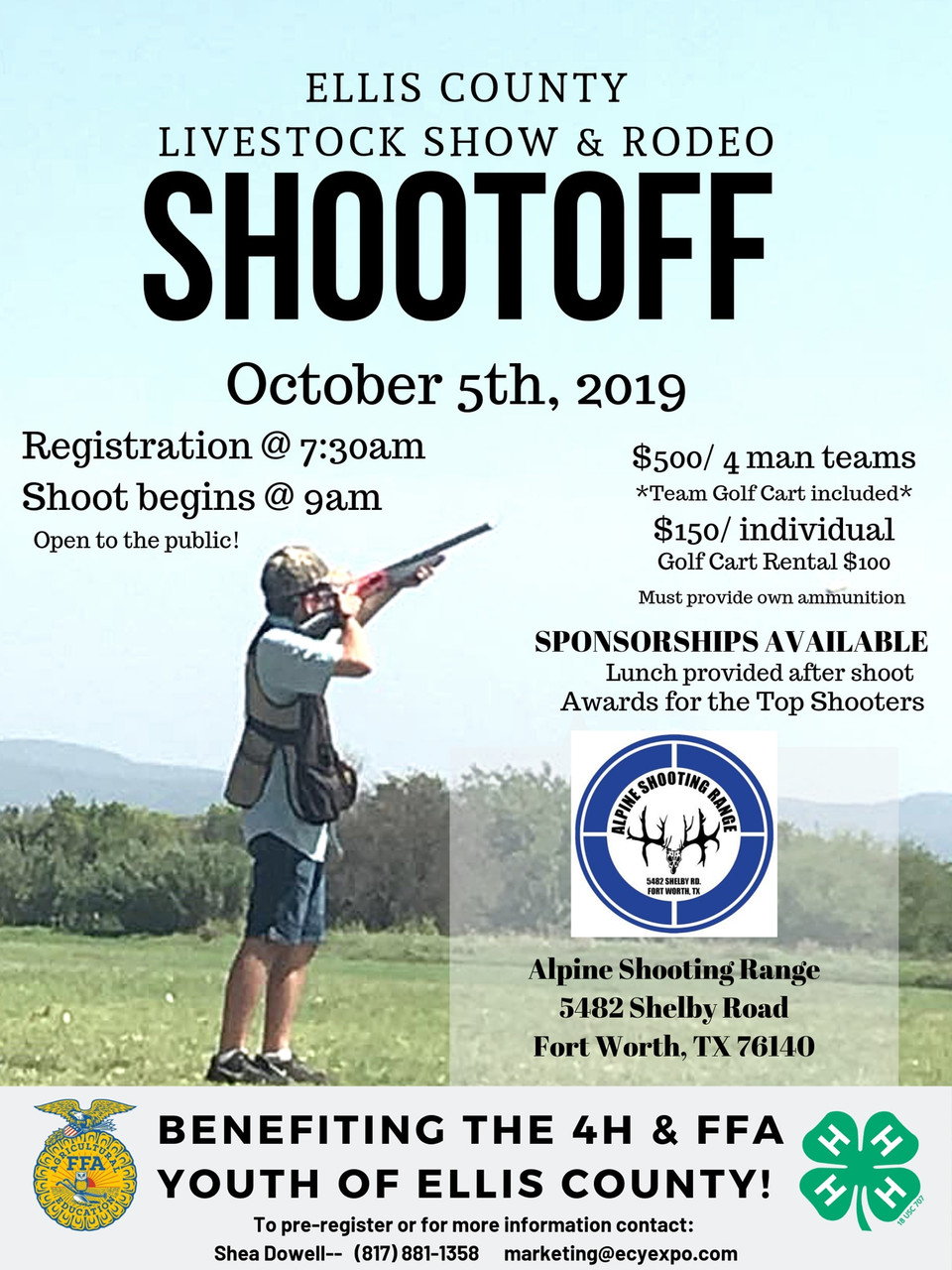Ellis County Livestock Show & Rodeo Clay Shootoff - October 5, 2019