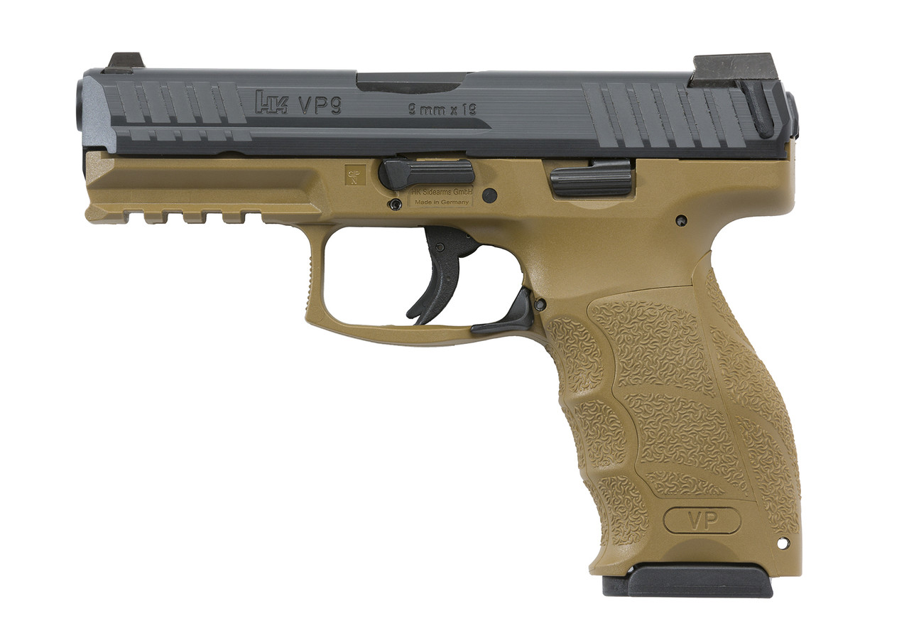 Heckler & Koch Flat Dark Earth VP9 with Night Sights 700009FDELE-A5 642230255159