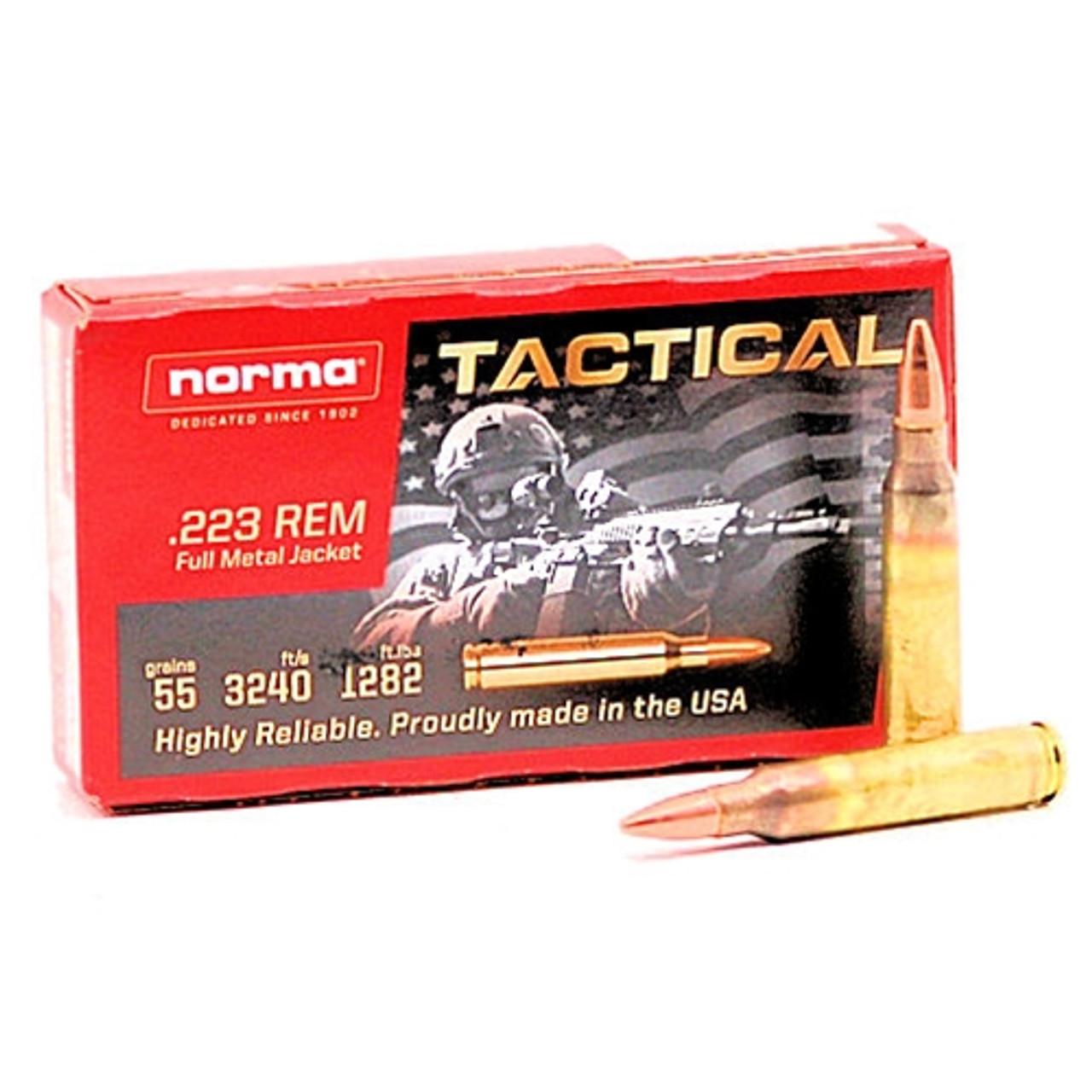 Norma .223 Remington 55 grain FMJ Tactical 871004009982
