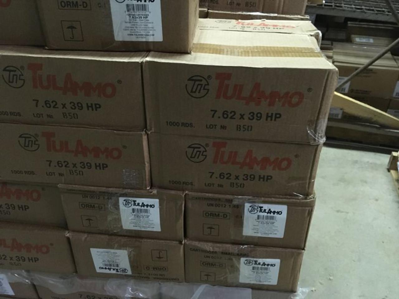 TulAmmo 7.62x39 mm 122 gr HP Steel Case - 1000 rounds