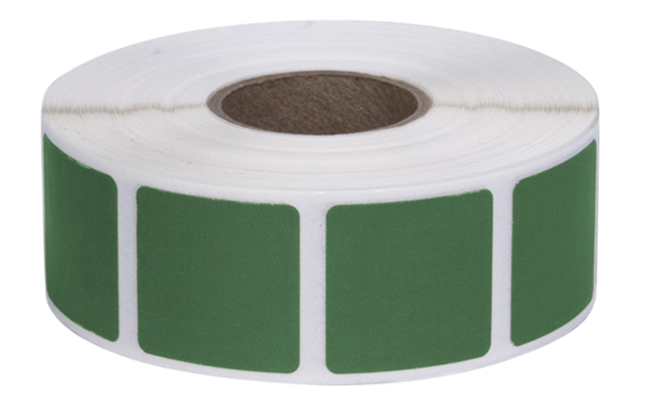 Action Target Inc Square Target Pasters, Action Past/gr   Pastersgreen 1000 7/8?sq Per Roll