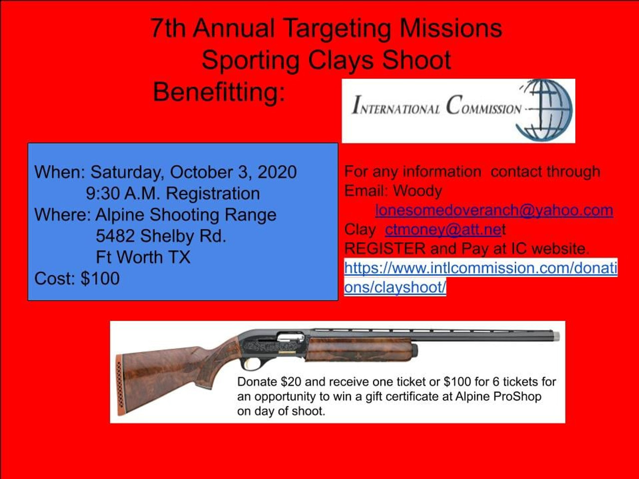 7th Annual Targeting Missions Sporting Clays Shoot - October 3, 2020
