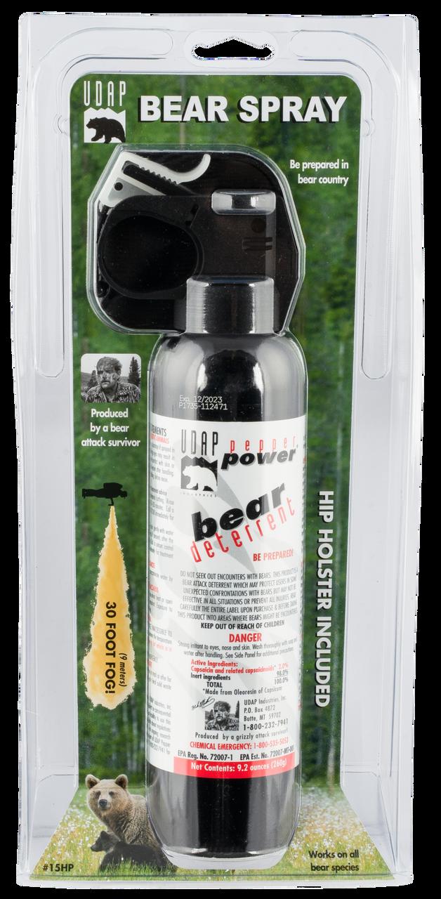 Udap Magnum Bear Spray, Udap 15hp   Magnum Bear 260g Hip Hlstr