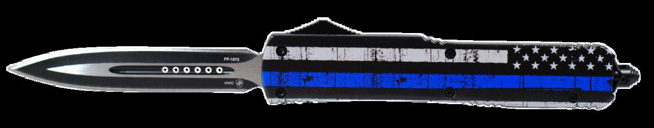 Templar Knife Back The Blue, Temp Mbtb131 Slim Back The Blue Dagger Black