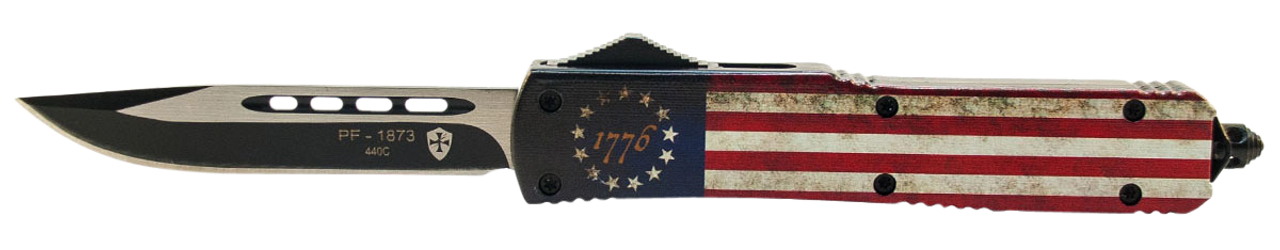 Templar Knife Betsy Ross Flag, Temp Mbrf331 Slim Betsy Ross Flag Drop Point Black
