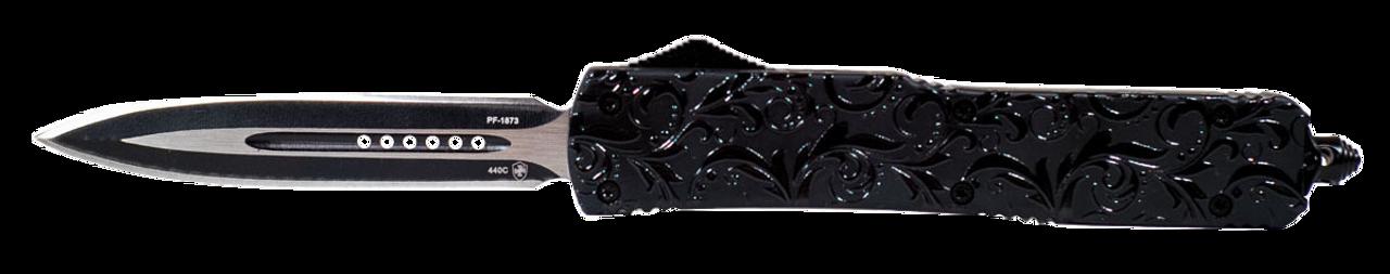 Templar Knife Maiden Gloss, Temp Mmdg131 Slim Maiden Gloss Dagger 440c Black