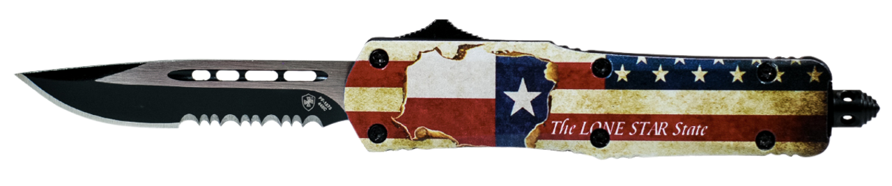 Templar Knife Texan, Temp Ltx-631  Large Texan Drop Point Serrated 440c