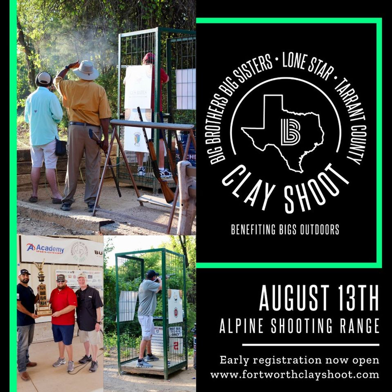 29th Annual Big Brothers Big Sisters of Tarrant County Clay Shoot - August 13, 2021