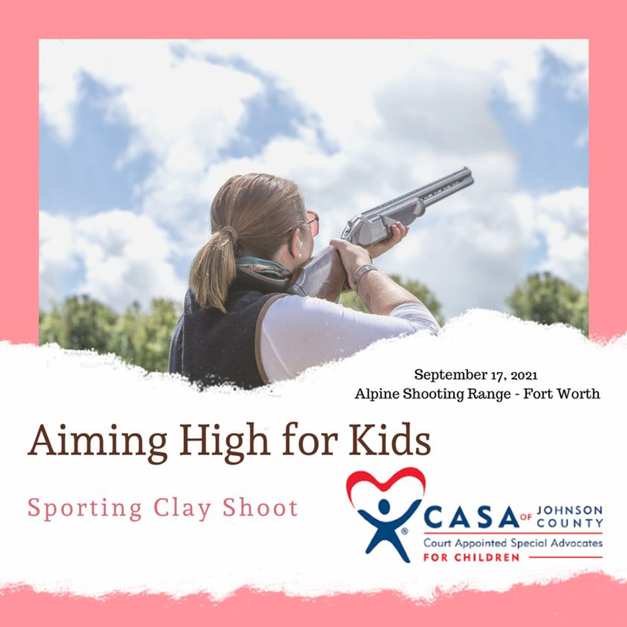 """CASA of Johnson County """" Aiming High For Kids """" Clay Tournament - September 17, 2021"""