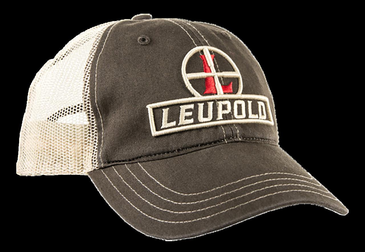 Leupold Reticle, Leu 170579 Reticle Soft Trucker Hat    Brown/khaki