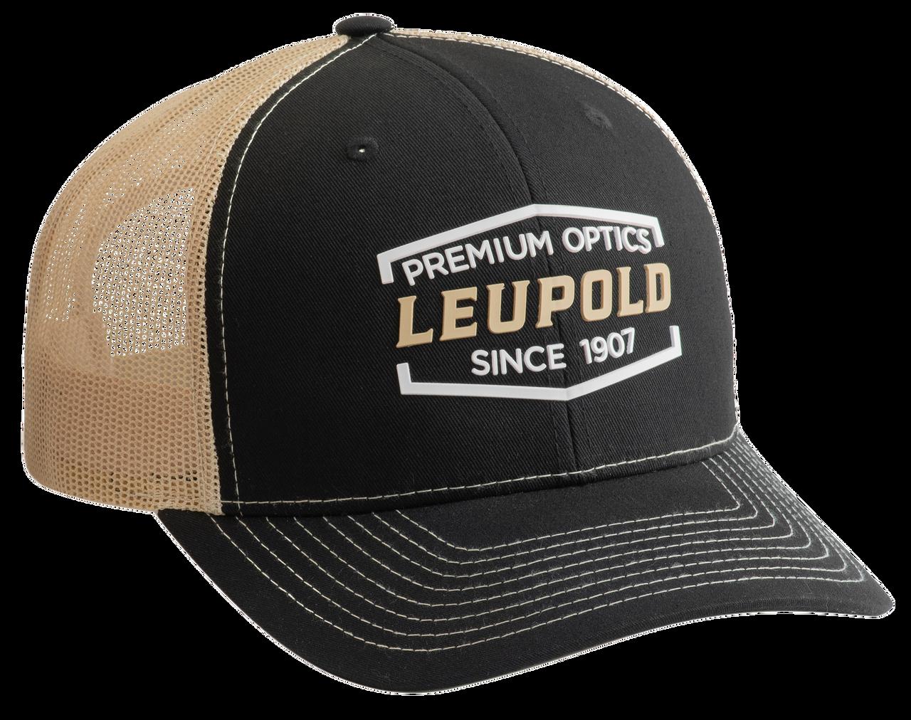 Leupold Premium Optics, Leu 179860 Premium Optics Trckr Hat Blk/vegas Gld
